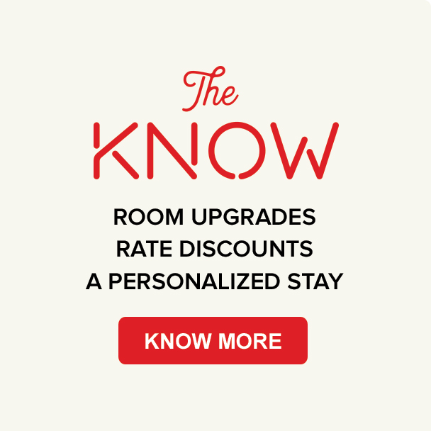 Join the Know guest loyalty program - Reasons why