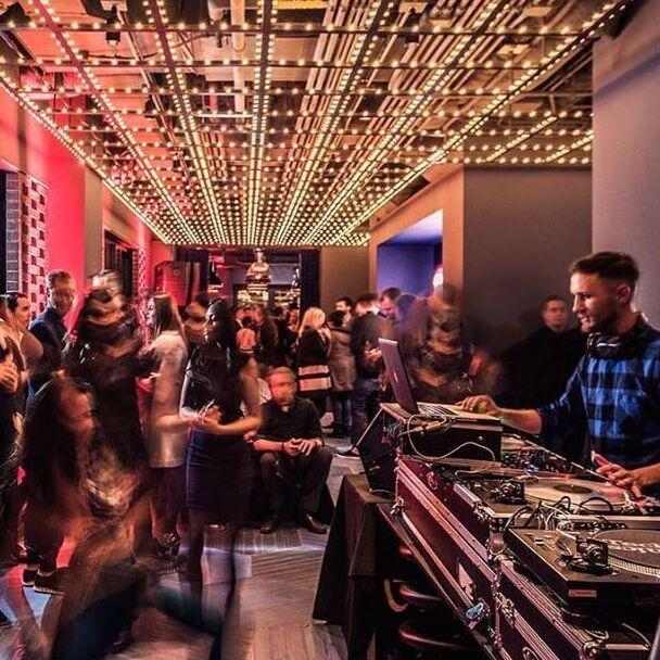Live DJ set at Cerise Rooftop Bar Chicago
