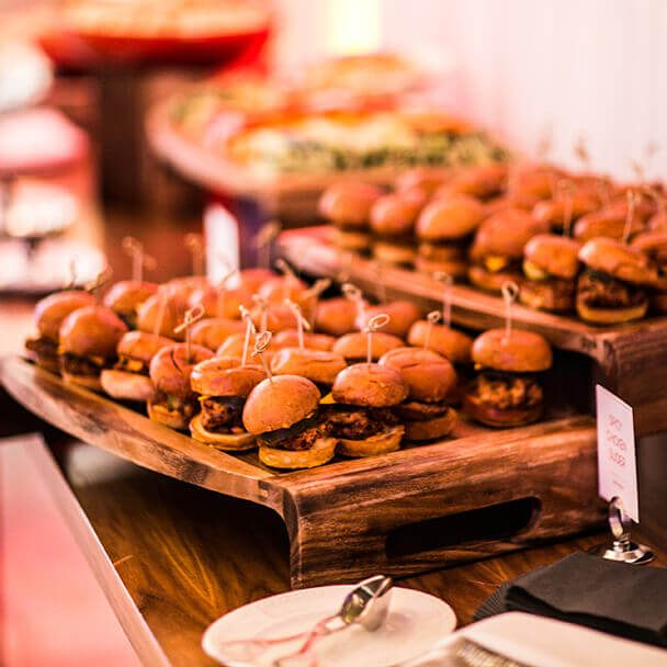 Mini Burgers for a catered event