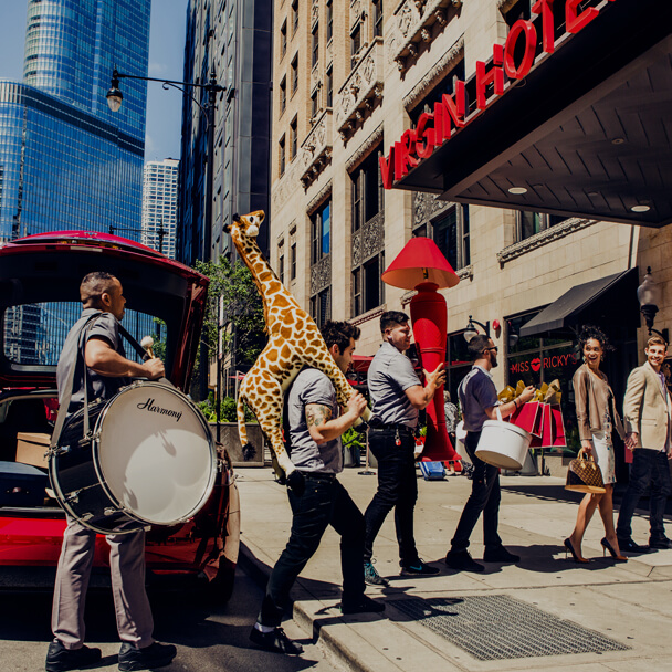 Free valet parking at Virgin Hotels Chicago