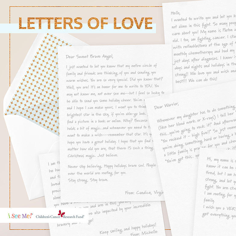 Examples of encouraging letters to children