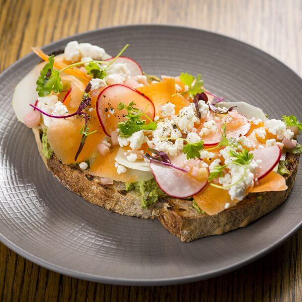 Fresh Avocado toast at Commons Club