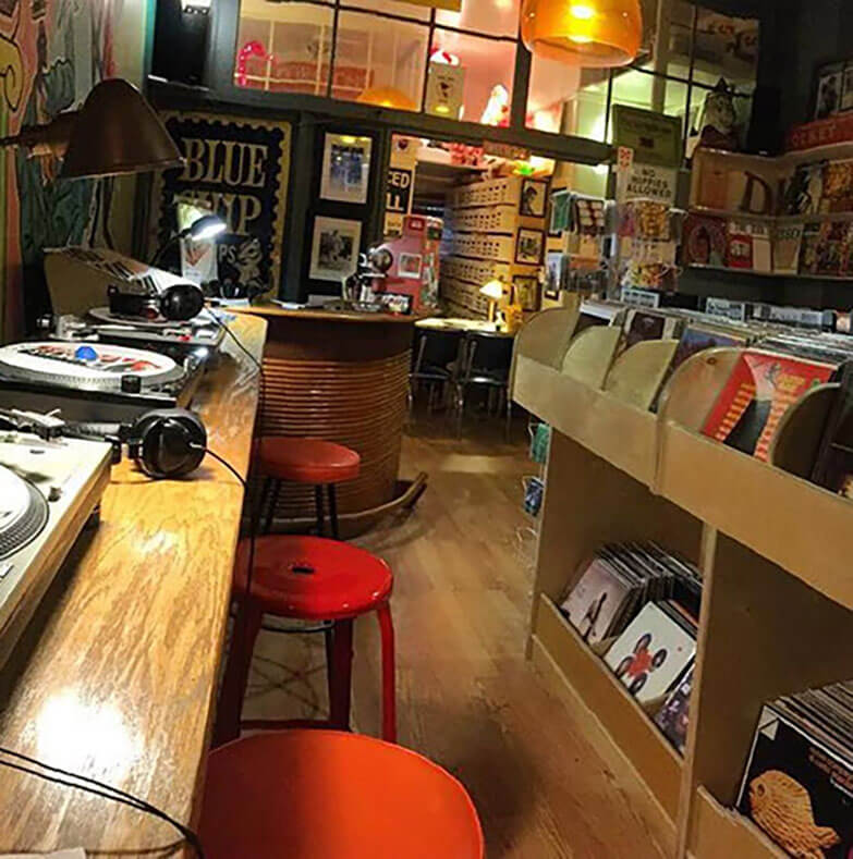 Record store in San Fran