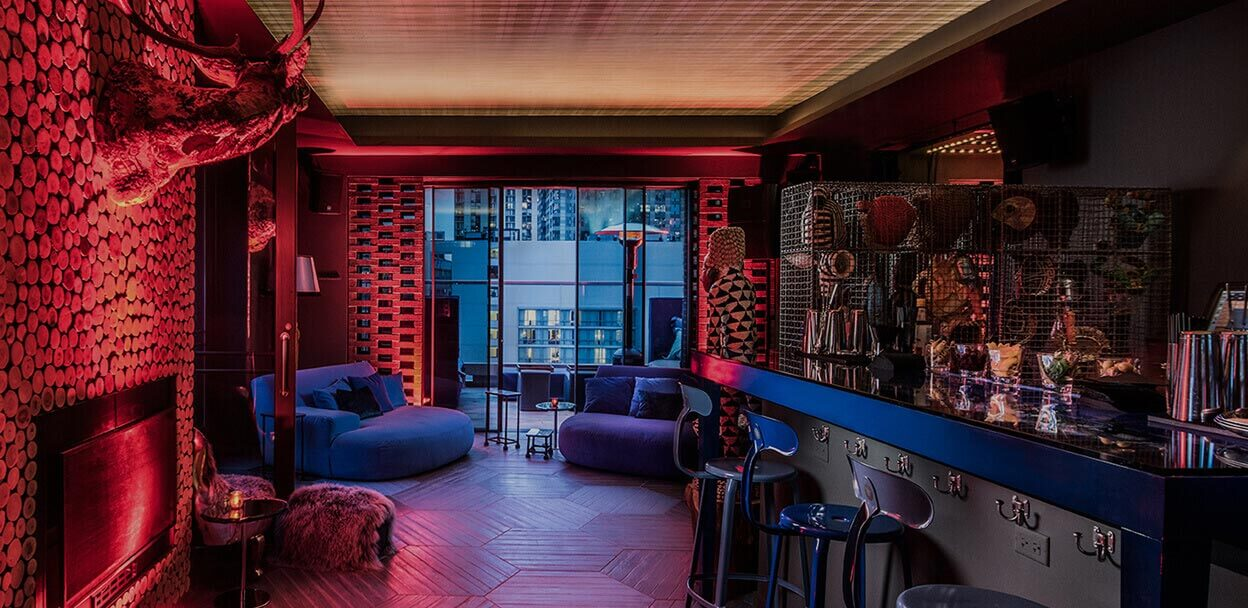 Quirky decor at Cerise Rooftop Chicago