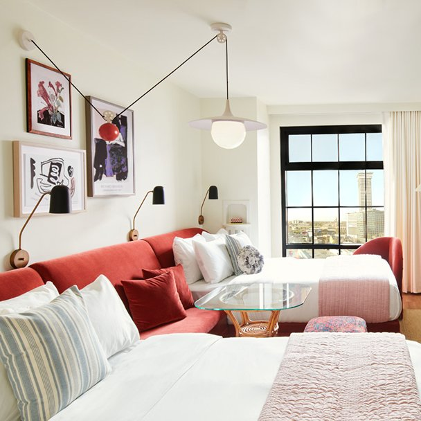 Guest rooms in New Orleans